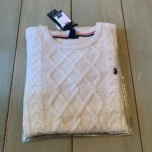 U.S. Polo Assn.Crew Neck Sweater XXL pink/silver